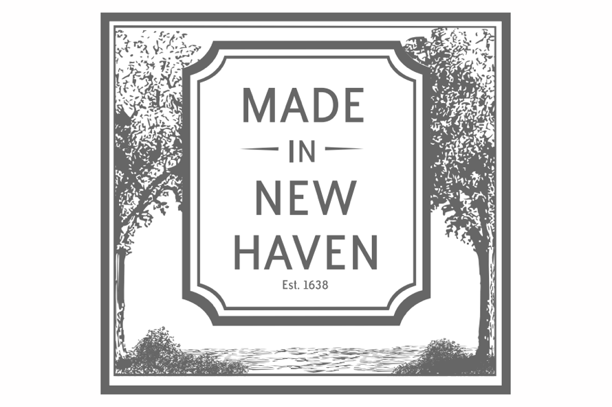 The seal for Made in New Haven, a campaign to promote goods made in New Haven, Connecticut. Corsair is the first apartment building to join the campaign.