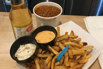 The chili and fries at Order of Fries, a new spot for French Fries on Upper State Street in East Rock near Corsair, apartments in New Haven.